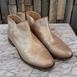 Splendid gold sparkle booties size 11.